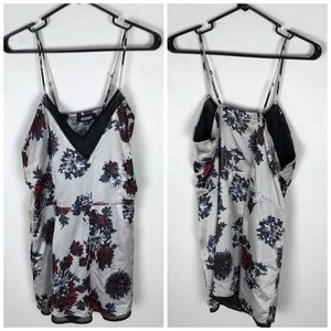Misguided Satin Floral Romper